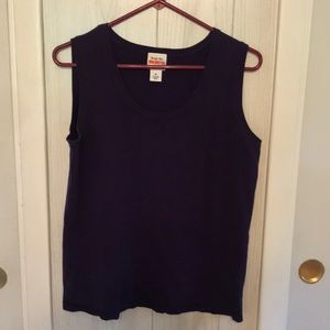 Ruby Rd Purple Sleeveless Lightweight Sweater